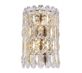 Crystal Lux LIRICA AP2 CHROME/GOLD-TRANSPARENT 2201/402