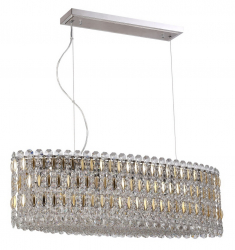 Crystal Lux LIRICA SP10 L900 CHROME/GOLD-TRANSPARENT 2201/210L